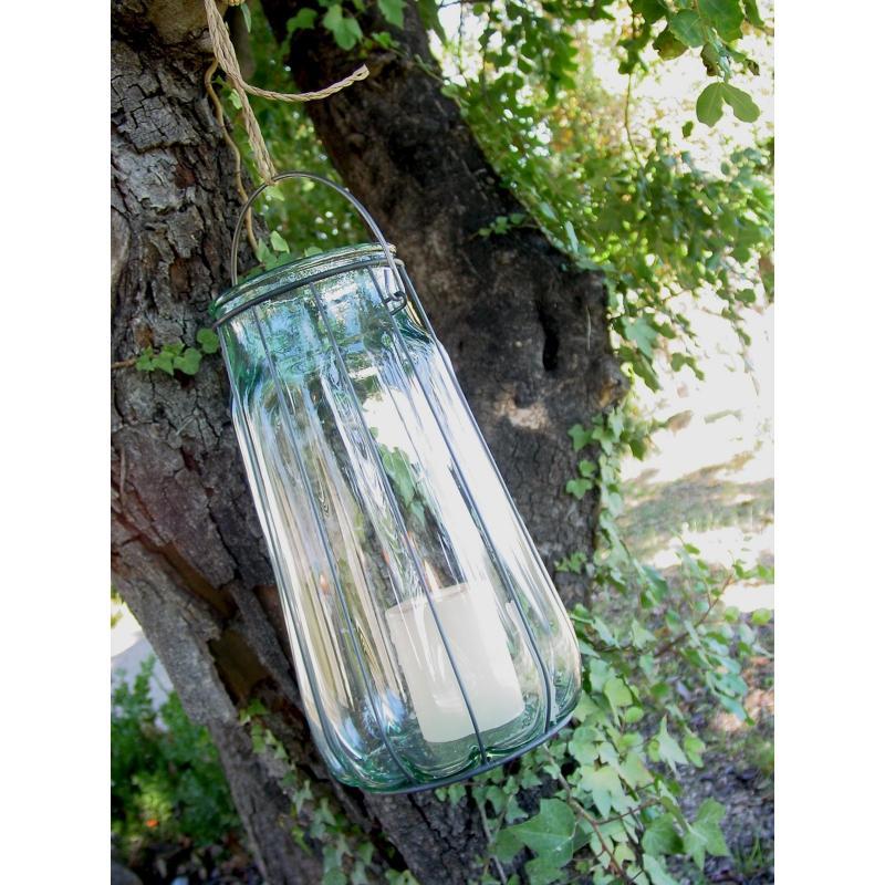 Lanterne FLORERO LINTERNA, en verre et en fer, 37 CM - Vases, Lanternes, décoration