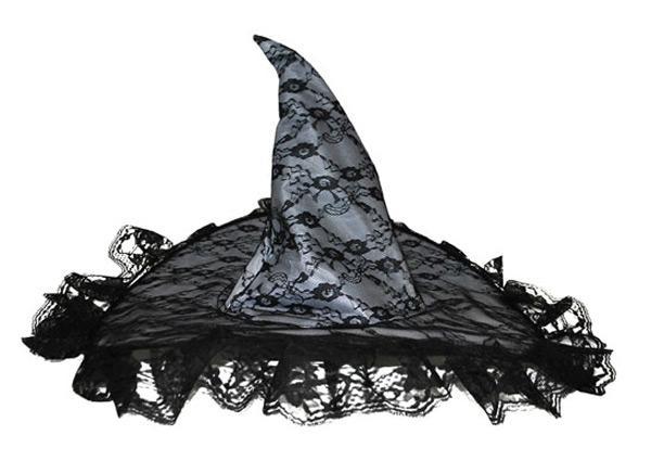 Chapeau sorcière dentelle