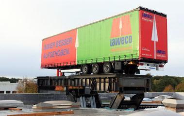 Special designs Lifting precision - Lorry lifting platforms: Stationary lifting platform