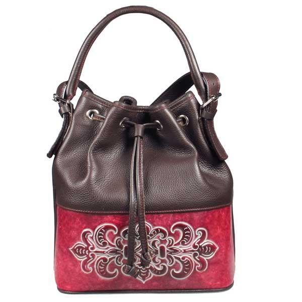 Leather bucket bag Walada