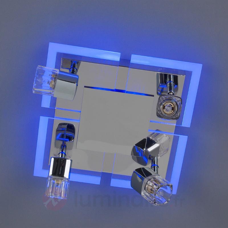 Plafonnier Timea à quatre lampes et LED bleues - Plafonniers LED