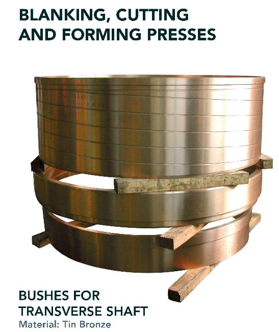 Bush for transverse shaft - Press industry - blanking, cutting and forming presses