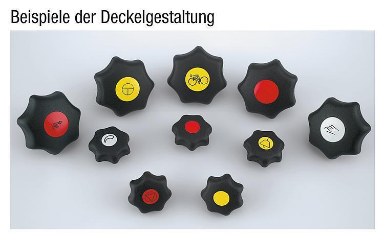 Flexibles Normteilesystem - Sterngriffe ähnlich DIN 6336