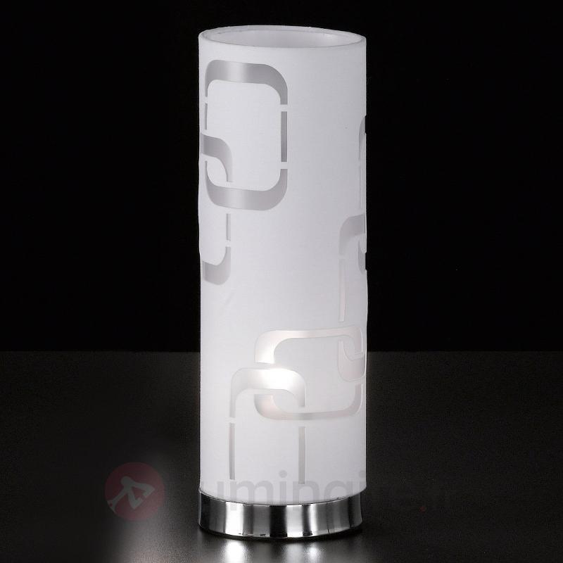 Lampe à poser textile blanche Seventies - Lampes à poser en tissu