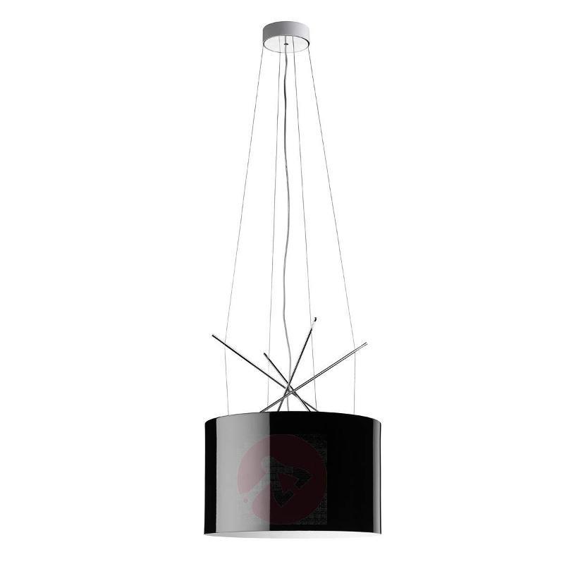 Ray S Black Pendant Lamp, 43 cm Diameter - Pendant Lighting