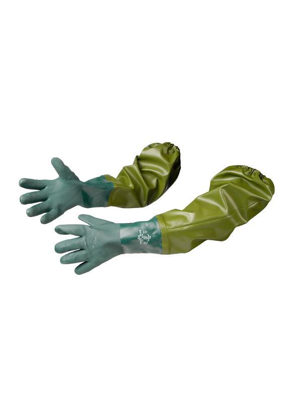 Extended green gloves - null