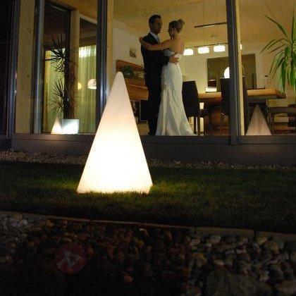 Pyramide lumineuse avec câble en caoutchouc - Lampes décoratives d'extérieur