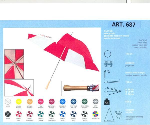 Parapluies golf - 687 GOLF BASIQUE