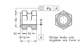 Gewindebuchsen - offen, für Kunststoff-Formteile