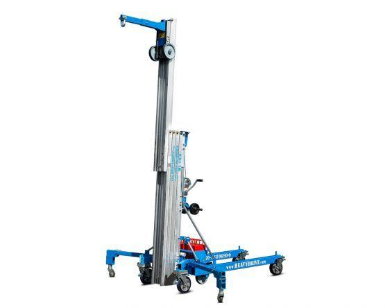 Assembly lifts - Manual assembly helpers with a capacity of 500 kg an 7.9 m lift height