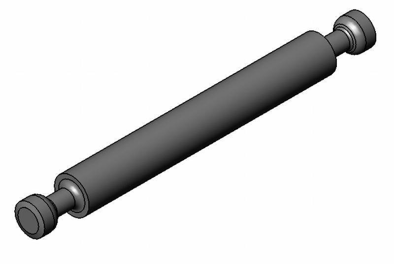 Mittelwandbolzen - Stahl gedreht - 7mm - o. Ring - blank - Bolzen (Exzenter)