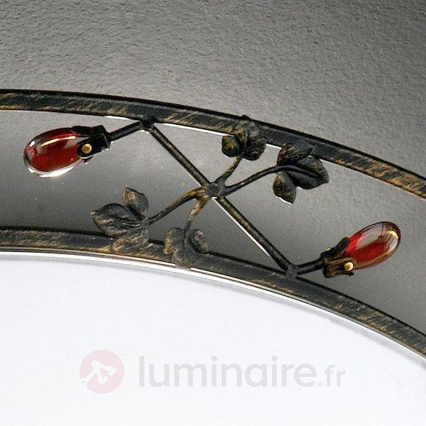 Plafonnier rond CIOMO avec bordure déco - Plafonniers rustiques