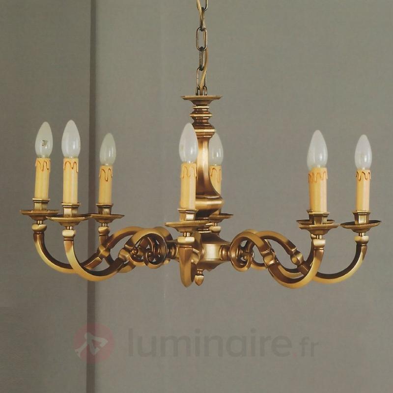 Lustre IMKE, laiton ancien, 8 lampes - Lustres classiques,antiques