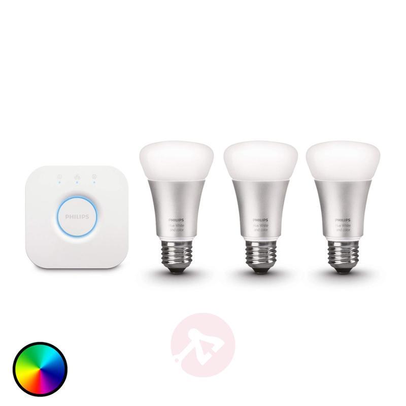 Philips Hue starter kit 3 x 10W E27, with bridge - light-bulbs