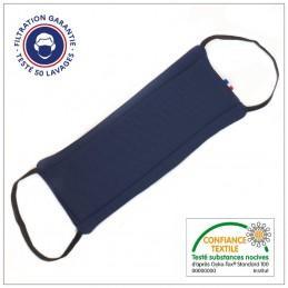 Masque Tissu Dga 50 Lavages Bleu Eclipse (Préconisation Afnor) - null
