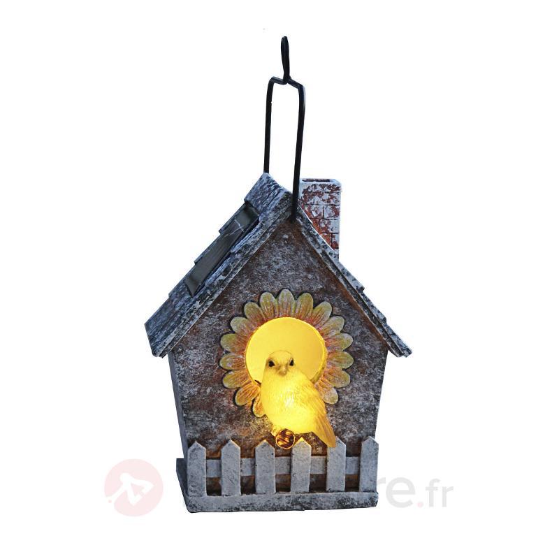 Lampe solaire LED Volière (Vogelhaus) - Lampes solaires décoratives