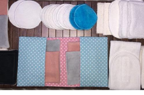 Lingettes et démaquillant Lavable  - Lingettes Bio démauillant lavable