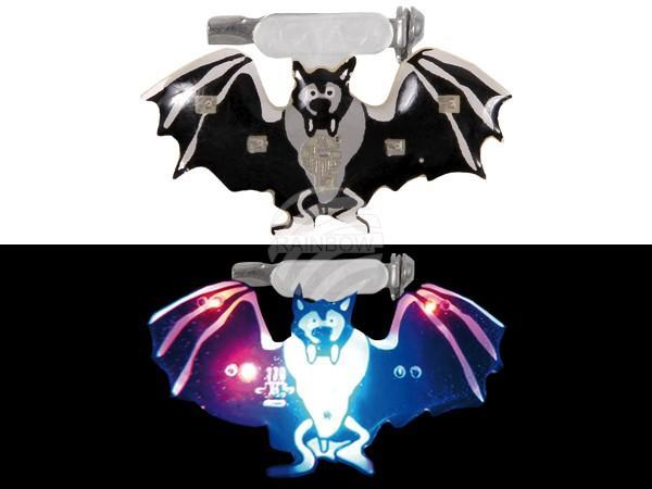 Blinki Blinker schwarz grau Motiv: Fledermaus - null