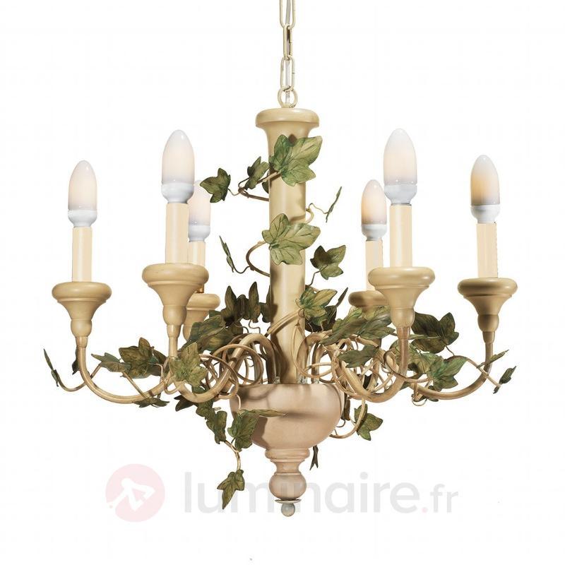 Lustre Tendril orné de vigne vierge - Lustres rustiques