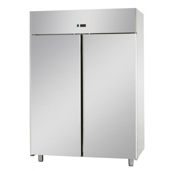 Armoires réfrigérées positives 2 portes pleine 1400L inox