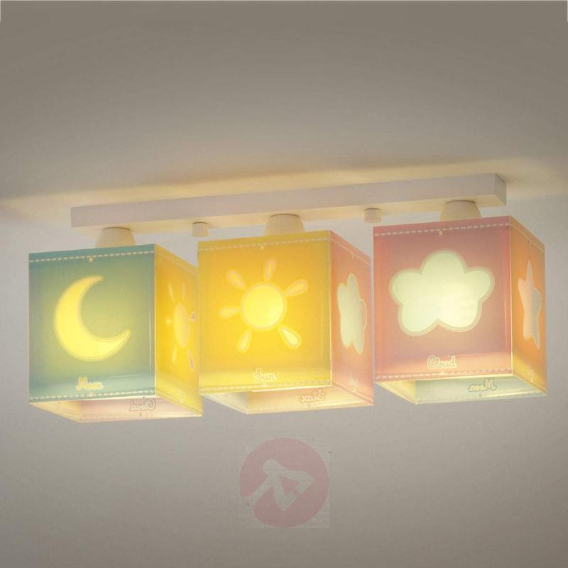 Three-lampshade Nature ceiling lamp for children - Ceiling Lights