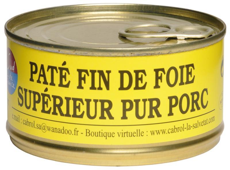 Pâté Fin de Foie Supérieur Pur Porc (conserve) - Epicerie salée