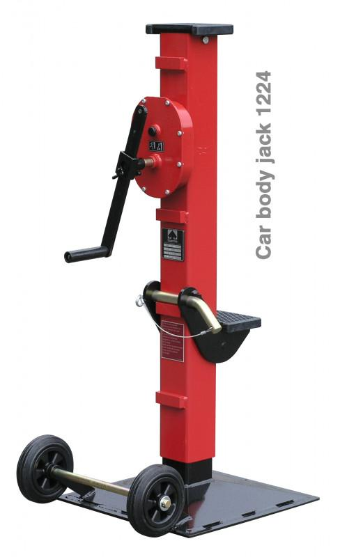 jack - 1224 series - Car body jack, with adjustable claw, top load 8 t, claw 5 t, lift 500 mm
