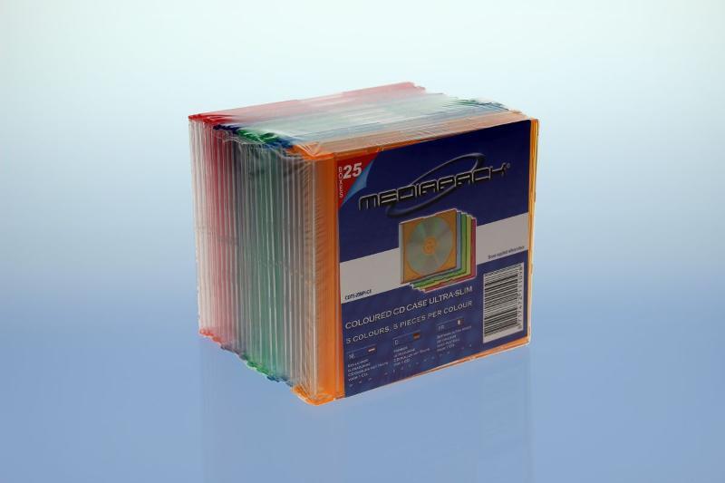 CD Slimcase 25er Pack - MPI - farbig - Retailverpackungen & Zubehör