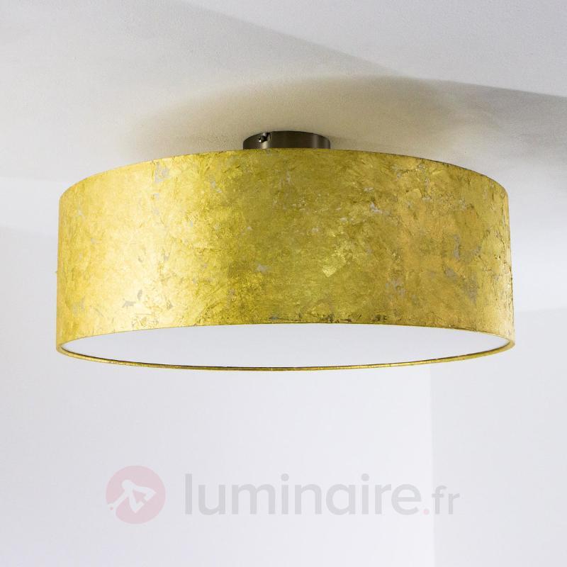 Plafonnier Aura avec feuille métallique chiffonnée - Tous les plafonniers