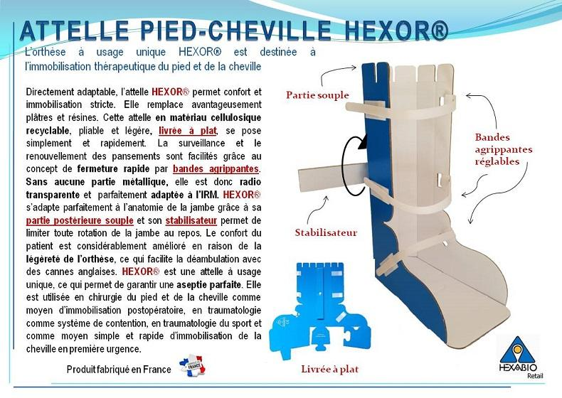 Attelle Pied Cheville en carton - Attelle d'immobilisation du pied et de la cheville post et pré opératoire