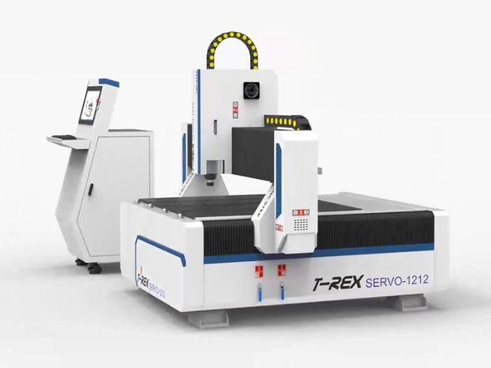 CNC Portalfräsmaschine T-Rex Servo-1212 - CNC Portalfräse mit Verfahrwegen von 1200 x 1300 mm