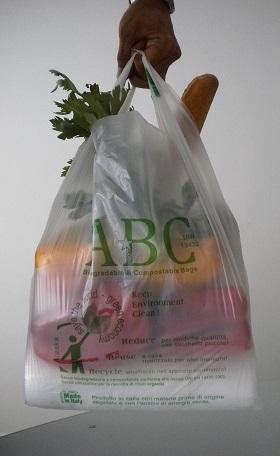 Biodegradable T-Shirt Bags - sacchetto biodegradabile con manici esterni a canottiera