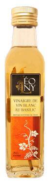 Vinaigre de Vin Blanc BIO au Basilic  - 6 % d' acidité LEONY