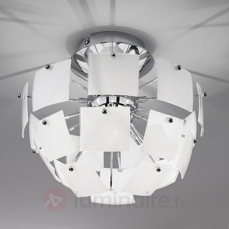 Plafonnier extravagant URANIA blanche - Plafonniers design