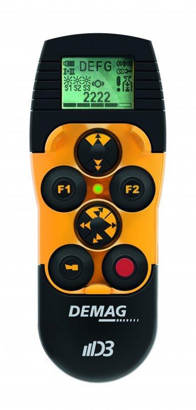 Telecomando radio Mini Joystick DRC MJ - Ergonomico. Efficiente. Intuitivo. Telecomando radio Demag DRC MJ