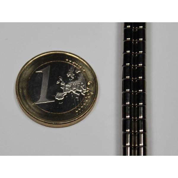 Neodymium disc magnet 3,5x4mm, N35, Ni-Cu-Ni, Nickel coated - Disc