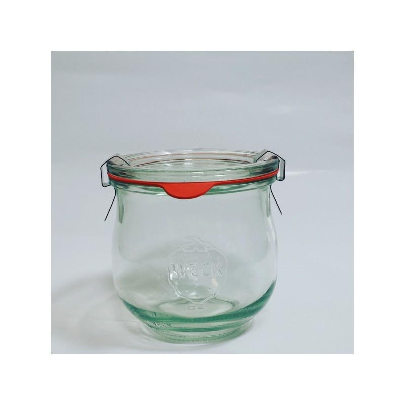 WECK COROLLE® Glazen - Flessen in glas Weck Model Corolle 370ml, doorsnede 80 mm. Ingesloten
