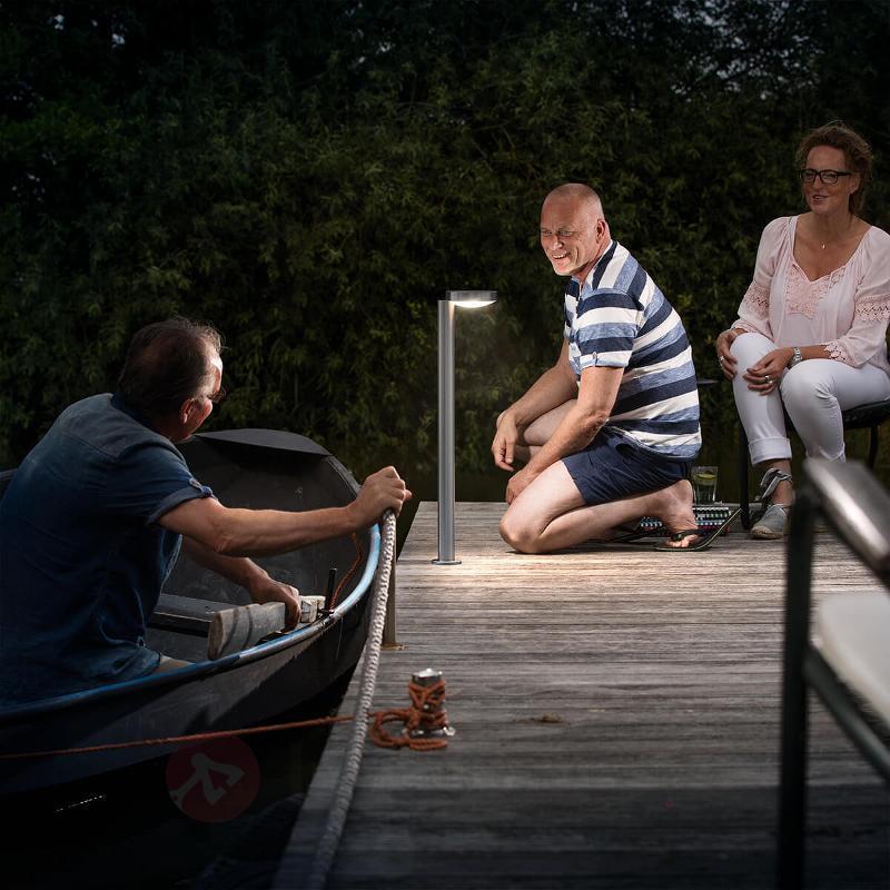 Borne lumineuse LED en inox Cockatoo 2 700 K - Bornes lumineuses inox