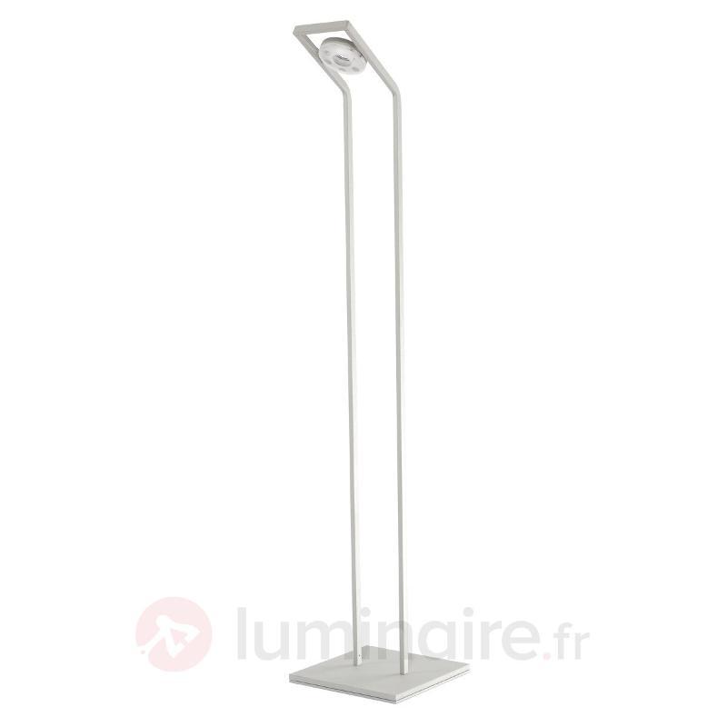 Lampadaire de lecture LED TUNE-LL argenté - Lampadaires LED