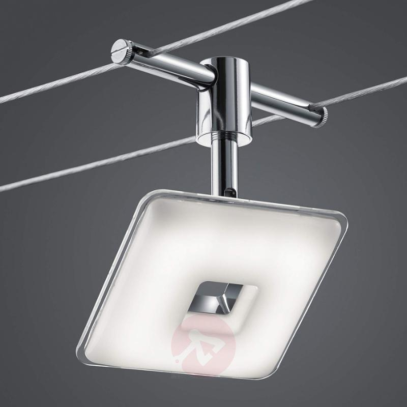 5-bulb LED cable lighting system Pontius - indoor-lighting