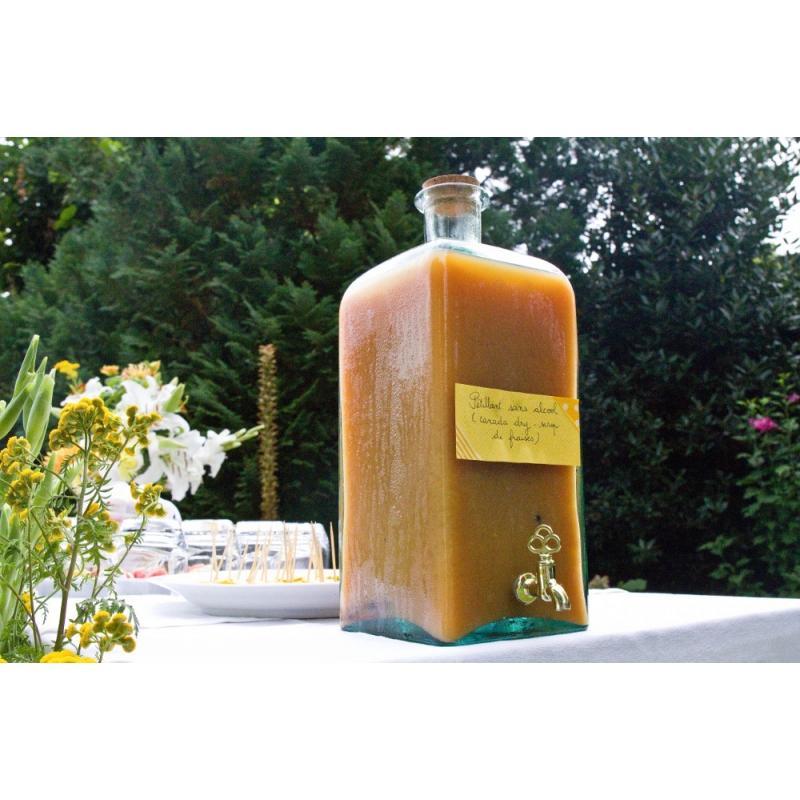 Grande bouteille 5 Litres FRASCO carrée avec robinet - Bonbonnes et bonbonnières
