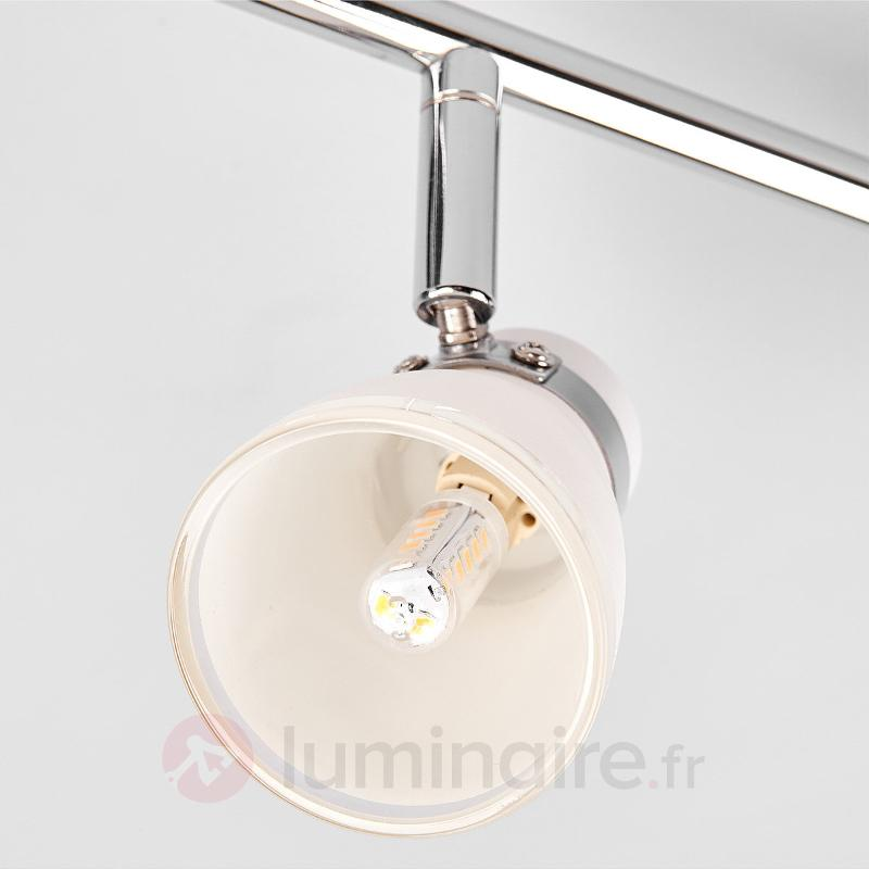 Plafonnier à 4 lampes Nicaro à abat-jour en verre - Spots et projecteurs halogènes