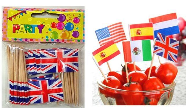 Creative food picking flags  - disposable food cocktail flag picks
