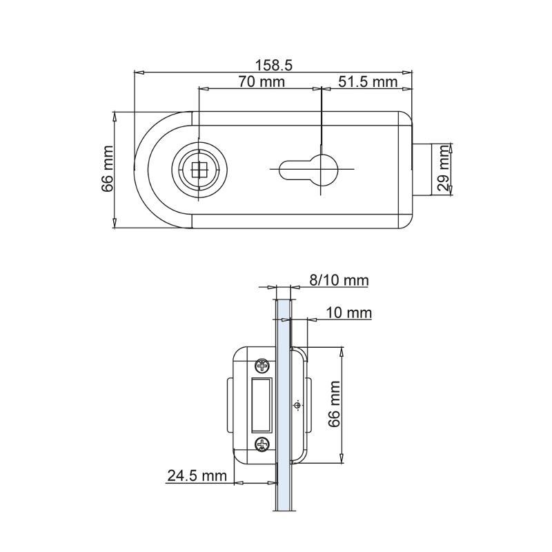 "CLASSICO 1.0 lock case UV, WITHOUT lever - Locks ""Griffwerk"""