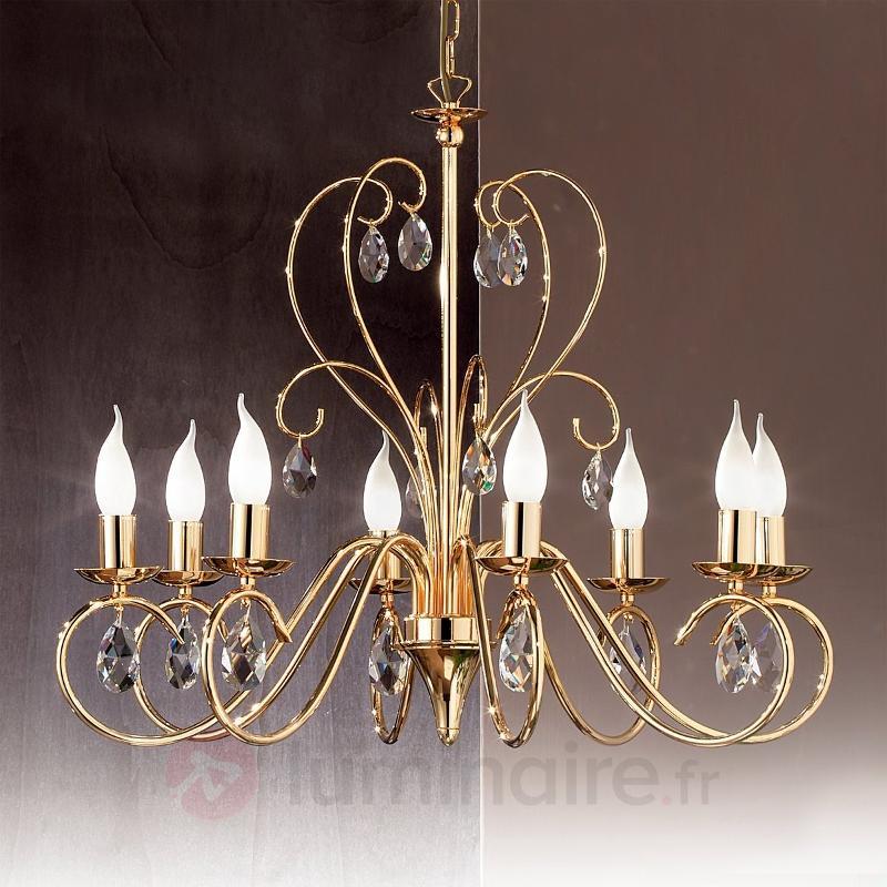 Lustre gracieux FIORETTO 8 lampes doré - Lustres classiques,antiques