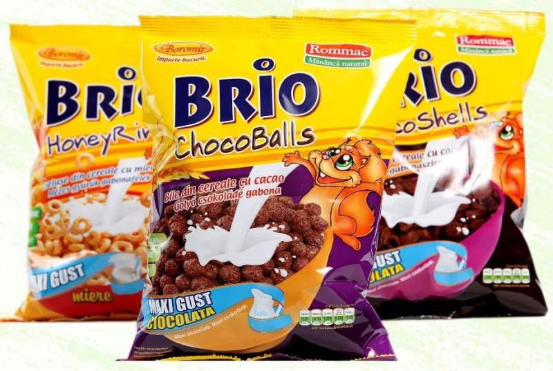 Breakfast Cereals 250g - balls, shells, rings coating with cocoa and honey