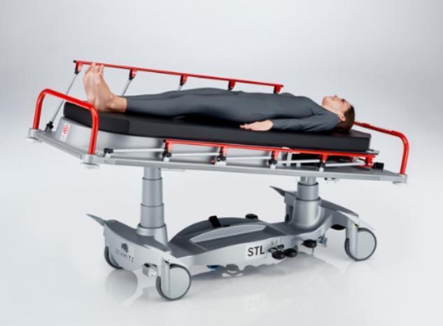 Chariot-brancard STL 285 - STL 285 pour les transports internes de patients