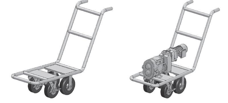 Hygienic pump carts