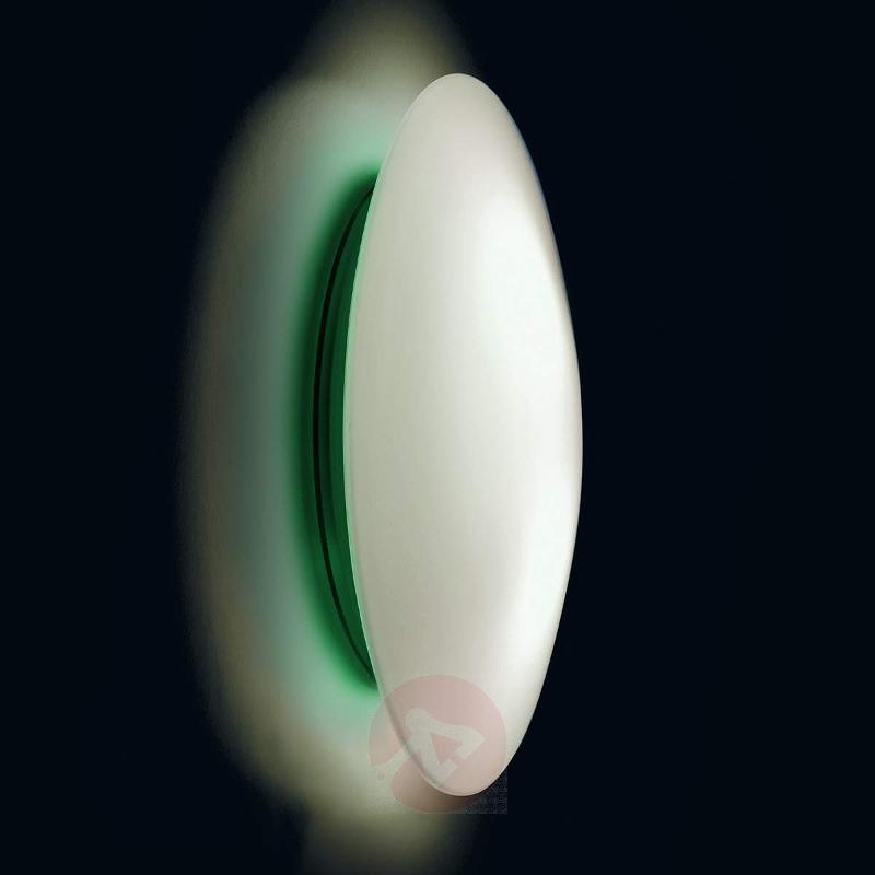 LED wall light Bis with green ring, IP44 - Ceiling Lights