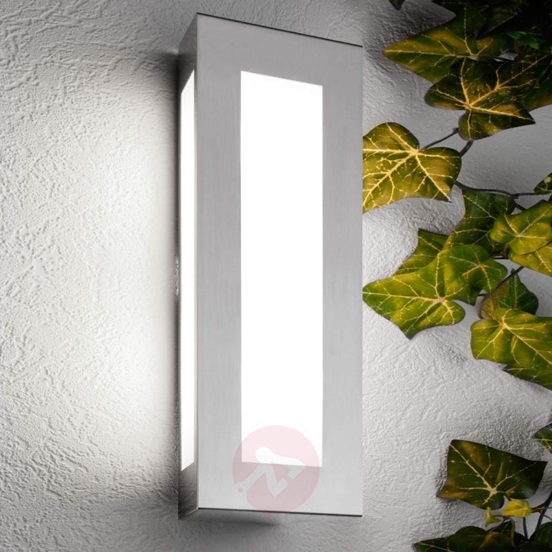Lija Decorative Exterior Wall Lamp excl Sensor - stainless-steel-outdoor-wall-lights